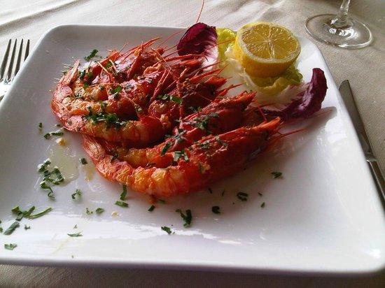 La Rondinella: grilled shrimps