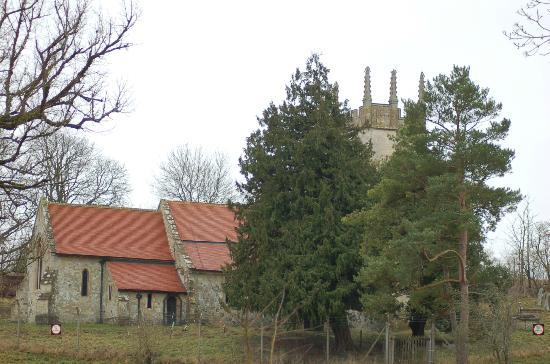 Imber Range Perimeter Path: Few original buildings remain in the village