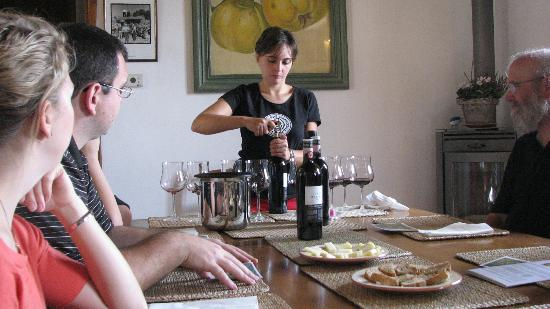Tuscan Wine Tours by Grape Tours : Marialuisa is preparing the first tasting