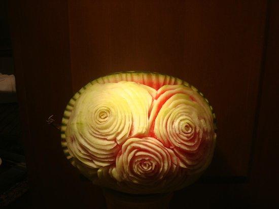 Daphnila Bay Thalasso: Watermelon in the restaurant