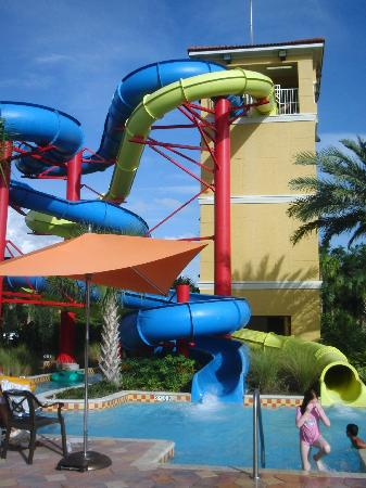 Fantasy World Club Villas: slides at the main pool