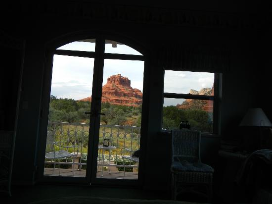 Canyon Villa Bed and Breakfast Inn of Sedona: Bell Rock View from Strawberry Cactus Suite