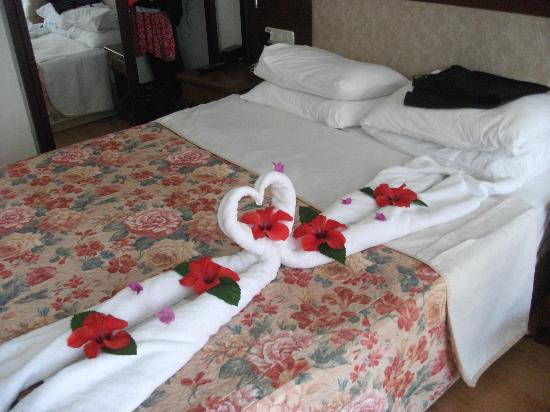 Club Belcekiz Beach Hotel: Room after thr maids had been