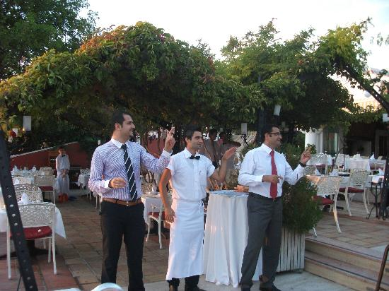 Club Belcekiz Beach Hotel: Hotel manager and Staff at the welcome cocktail party