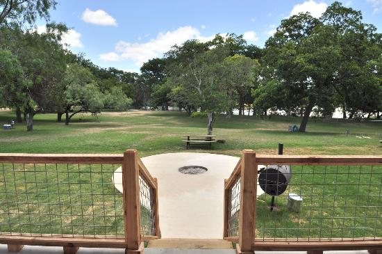 Seven Bluff Cabins On The Frio: River Front Cabin View