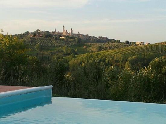 Agriturismo Poggiacolle: Poggiacolle and San Gimignano in the background