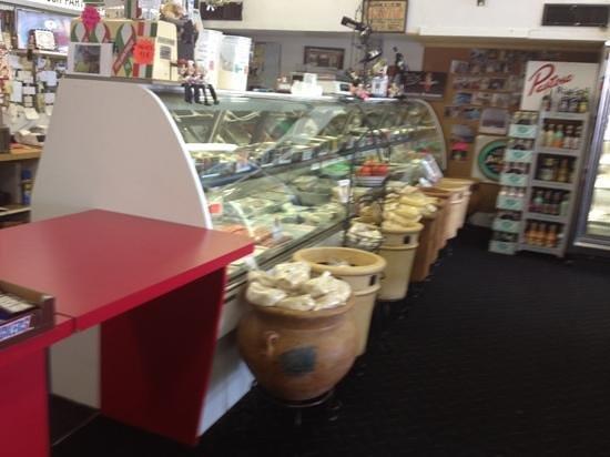 Bella Monte Italian Deli: front counter view of meat/cheese case