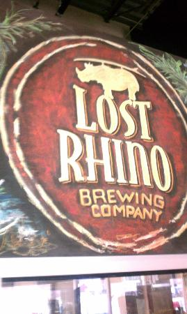 Lost Rhino Brewing Company: Look for the Logo