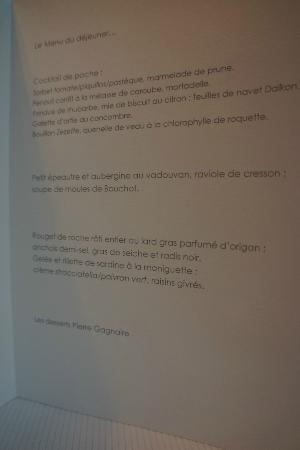 Pierre Gagnaire: menu