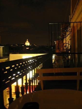 Hotel Mattle : Panorama dal balcone della camera.