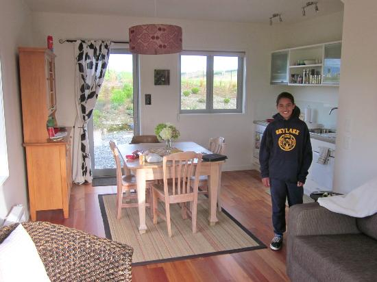 Dusky Ridges - Te Anau farmstay Bed and Breakfast: Kitchen (downstairs of two story unit)