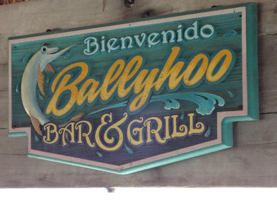 Bally Hoo Restaurant & Margaritas Bar: bienvenido