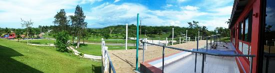 Rumors Resort: our deck while it was under construction. panoramic views.