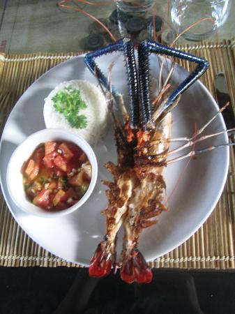 Les 3 Elephants Cherai Beach: Tiger Prawn for Dinner