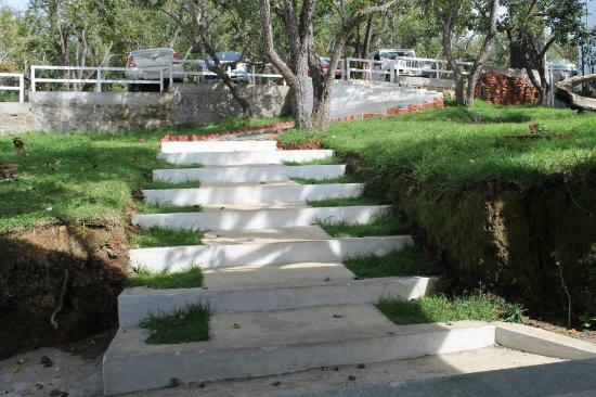 Mount Pleasant Boutique Resort: The Steps down towards the Resort Main Door