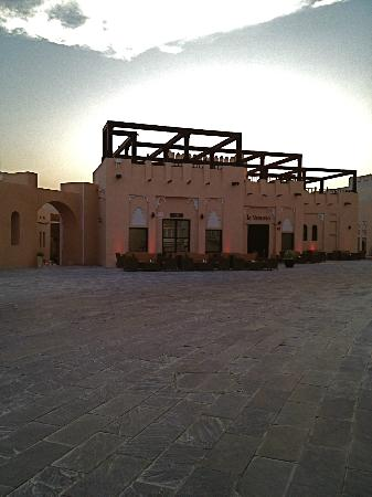 Katara Cultural Village: katara, a cafe/restaurant at sunset