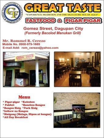 Great Taste Fastfood & Pigar-Pigar : First and authentic Pigar-Pigar Restaurant in Dagupan City...
