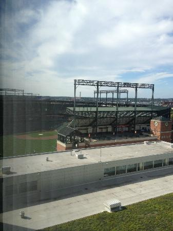 Hilton Baltimore: View of Camden Yards from Hotel Room
