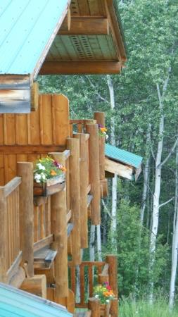 Logpile Lodge: Summer balconies