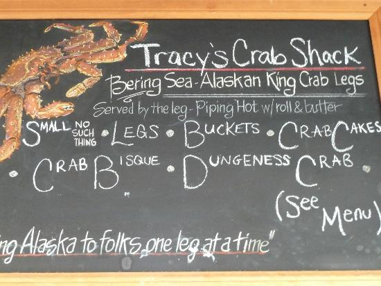 Tracy's King Crab Shack: menu