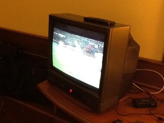 Zalaegerszeg, Hungría: 21 century hotel with this tv!