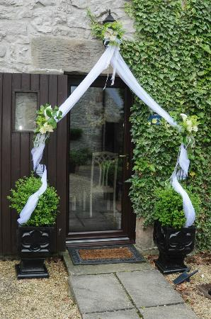 Blakelow Farm Holiday Cottages: Candle Cottage doorway on our wedding day