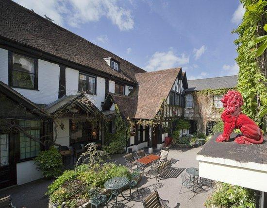The Vine Restaurant: the courtyard