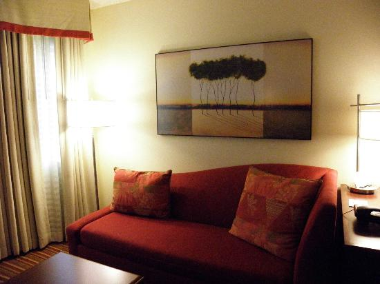 Residence Inn Cincinnati Blue Ash: This couch is surprisingling comfortable