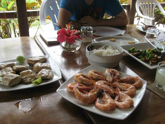 Cabanas Las Pigualas: delicious food