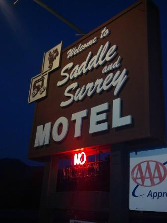 "Saddle & Surrey Motel: The only time they say ""no""!"