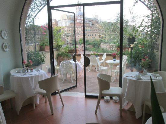 Campo Regio Relais: Breakfast terrace