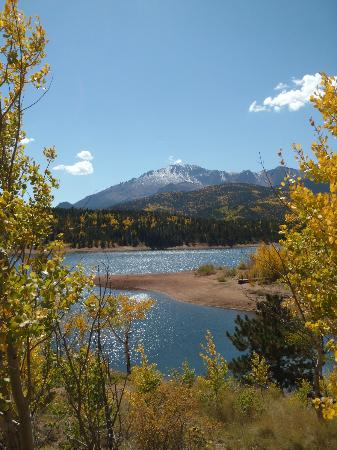Pikes Peak - America's Mountain: A lake part-way up
