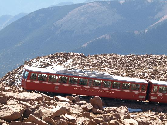 Pikes Peak - America's Mountain: The Cog Railway near the summit