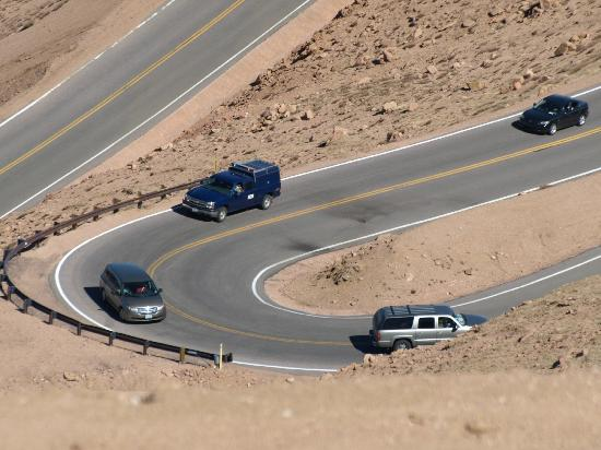 Pikes Peak Highway: Traffic heading up