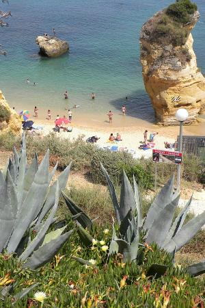 Praia Dona Ana: view from above the beach terrace