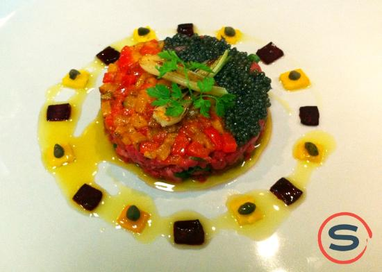 Sidney Willoughby Run: Beef tar tar with caviar