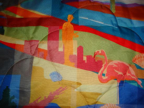 Motel 6 Kingston : Close-up of the colorful bedspread