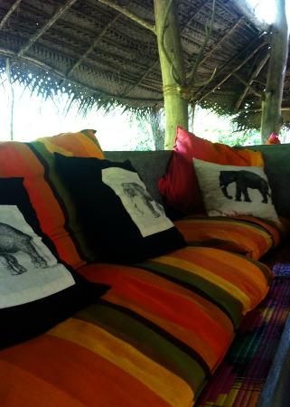 Kumbura Eco Lodge: Living area