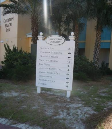 Carillon Beach Resort Inn: Direction Board