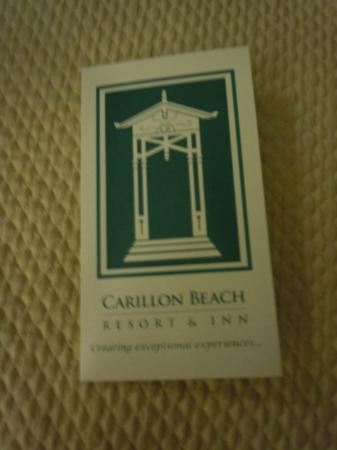 Carillon Beach Resort Inn: Keycard holder