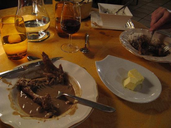 La balance, mets et vins : Coq au vin jaune au morille (Rooster/Chicken)