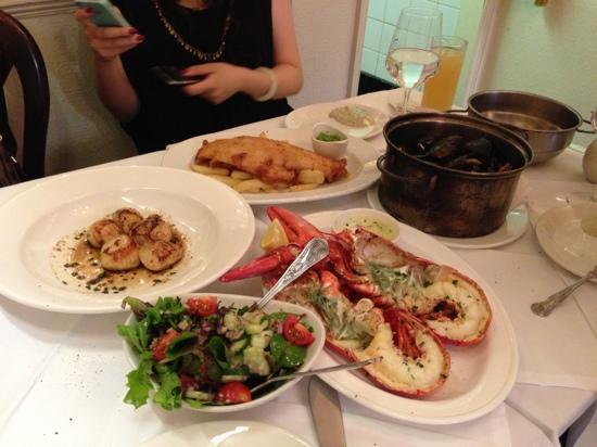 English's of Brighton: dinner