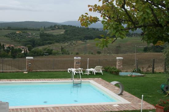 Casale Virgili: Vista dalla piscina
