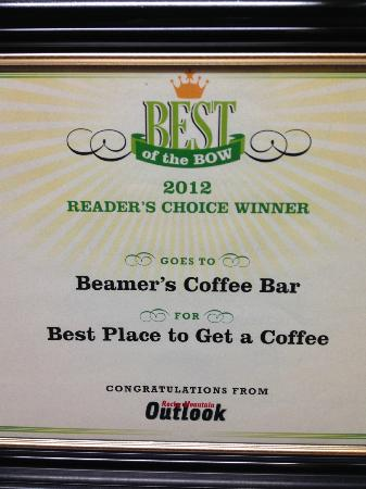 Beamer's Coffee Bar: Best Place To Get A Coffee Award