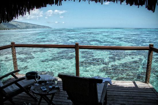 Le Meridien Tahiti : I took some great pictures of fish from this balcony.