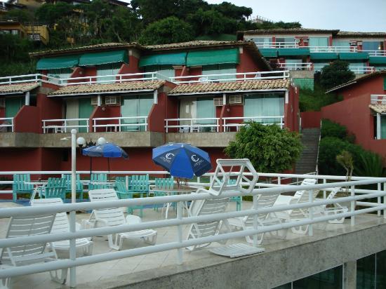 Coronado Inn: vista de las habitaciones desde la pileta