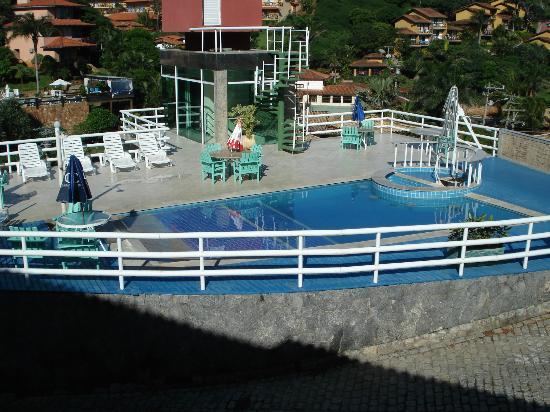Coronado Inn: vista de la pileta no climatizada, desde el balcon