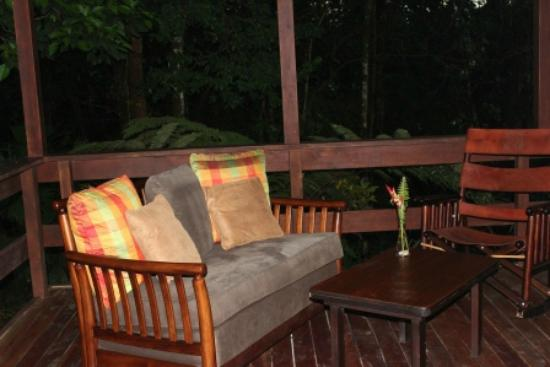 Chachagua Rainforest Eco Lodge: Nice Porch area with a hammock as well
