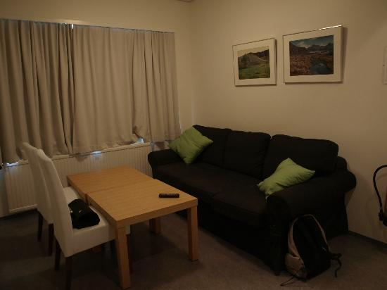 Downtown Reykjavik Apartments: Dining/Living Room Area.