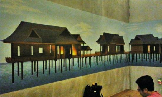 The Happy 8 Retreat @ Pasir Puteh: Wall drawing on Palm Tree room